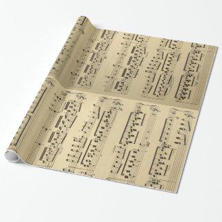 Papel De Presente Folha de música do vintage