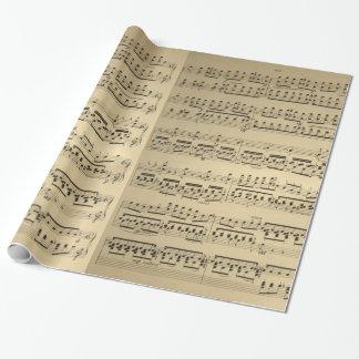 Papel De Presente Folha de música velha do vintage