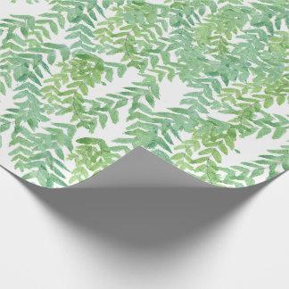 Papel De Presente Folhas de Trpical que wraping o papel
