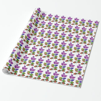 Papel De Presente Folhas do arco-íris da aguarela