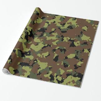 Papel De Presente Forças armadas Camo do verde de musgo