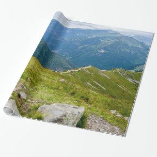 Papel De Presente Foto da paisagem de Ridge das montanhas de Tatra