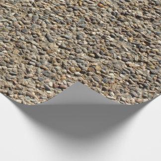 Papel De Presente Foto do cascalho & da areia