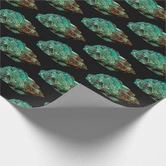 Papel De Presente Foto mineral da malaquite verde em v2 preto