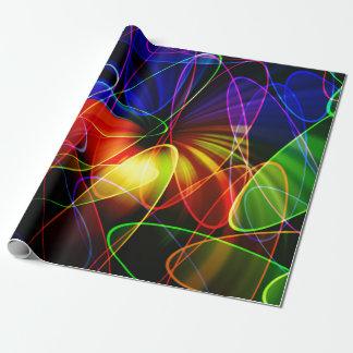 Papel De Presente Fractal do néon de Soundwaves