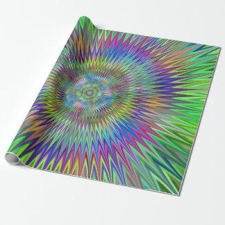 Papel De Presente Fractal hipnótico da explosão da estrela