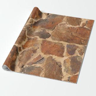 Papel De Presente Fulgor morno da geologia rústica da estrutura da