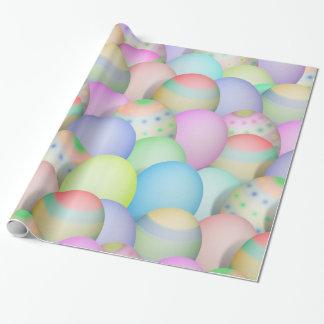 Papel De Presente Fundo colorido dos ovos da páscoa