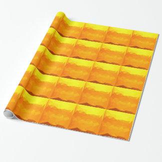 Papel De Presente Fundo do polígono do abstrato do amarelo do Cyber