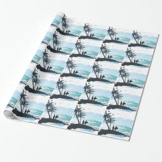Papel De Presente Fundo do surfista do verão da palma