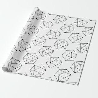 Papel De Presente Geek minimalista do Gamer do Tabletop do design