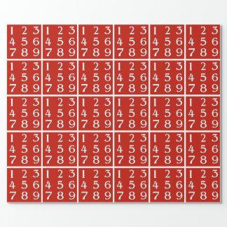 Papel De Presente Gênio de brotamento da matemática