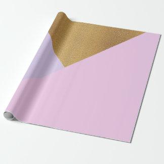 Papel De Presente Geometria de vidro Amethyst roxa do Pastel do ouro