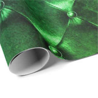 Papel De Presente Geometria luxuosa mínima de couro soprada tropical