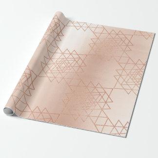 Papel De Presente Geometria metálica do hexágono do ouro do ouro do