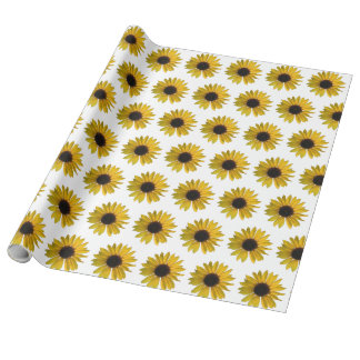 Papel De Presente Girassóis amarelos