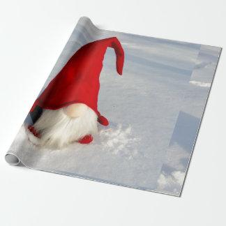 Papel De Presente Gnomo escandinavo do Natal
