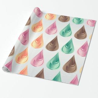 Papel De Presente Gotas coloridas