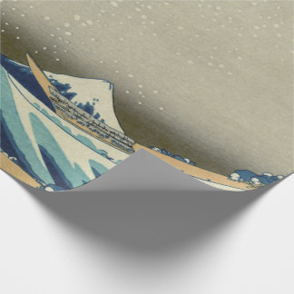 Papel De Presente Grande onda japonesa fora de Kanagawa por Hokusai