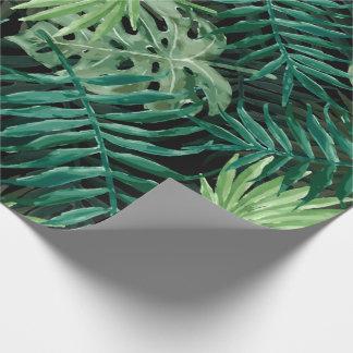 Papel De Presente Grande palma de samambaia verde e plantas