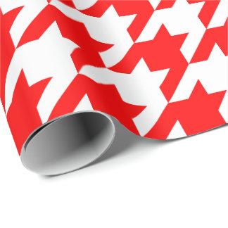 Papel De Presente Grande papel de envolvimento vermelho e branco de