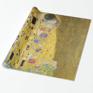 Papel De Presente Gustavo Klimt o beijo