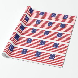 Papel De Presente *Hand americano Sketch* da bandeira dos EUA nós