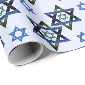 Papel De Presente Hanukkah, Chanukah, bar, estrela de David de