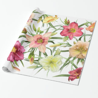 Papel De Presente Hemerocallis All Over