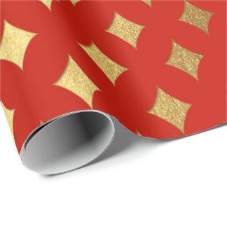Papel De Presente Heráldico vermelho vívido brilhante cortado