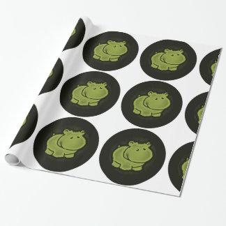 Papel De Presente Hipopótamo bonito