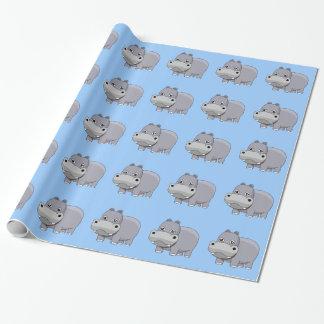 Papel De Presente Hipopótamo bonito do bebê