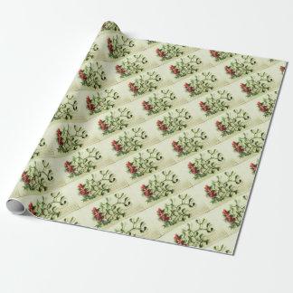 Papel De Presente Holly_Christmas_card_