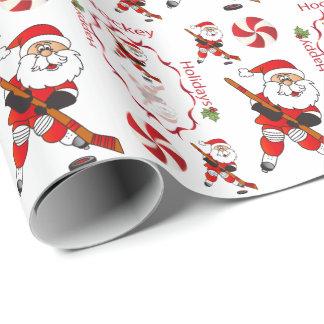 Papel De Presente Hóquei Papai Noel do Feliz Natal