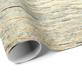 Papel De Presente Hortelã de madeira de Cali do ouro gasto metálico