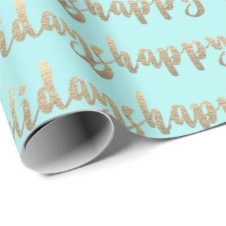 Papel De Presente Hortelã Pastel Tiffany do roteiro do ouro boas