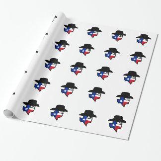 Papel De Presente Ícone da bandeira de Texas do bandido