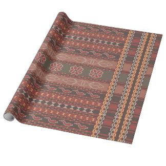 Papel De Presente Ikat, asteca, Kilim