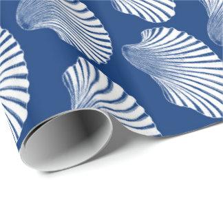 Papel De Presente Impressão, azuis marinhos e branco de bloco de