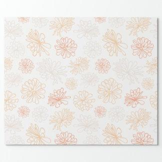 Papel De Presente Impressão botânico do jardim floral do Succulent