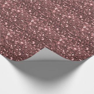 Papel De Presente Impressão cor-de-rosa moderno do brilho do falso
