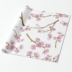 Papel De Presente Impressão da flor de cerejeira de Sakura