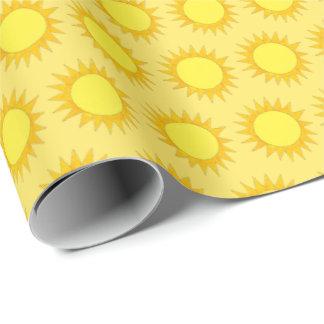 Papel De Presente Impressão da luz do sol de Sun do amarelo do verão