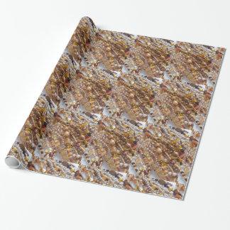 Papel De Presente Impressão da miçanga dos tons da terra do papel de