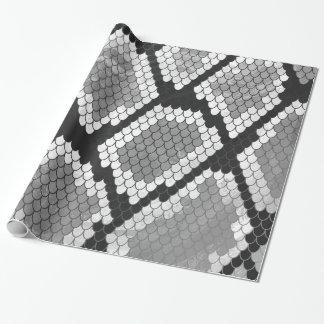 Papel De Presente Impressão das cinzas, do branco e do preto do