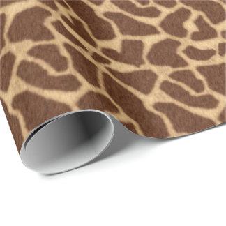 Papel De Presente Impressão do girafa
