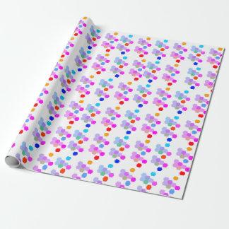 Papel De Presente Impressão do hexágono