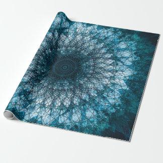Papel De Presente Índigo Blue Mandala