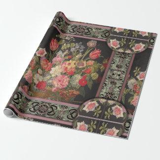 Papel De Presente Jaquebloom floral