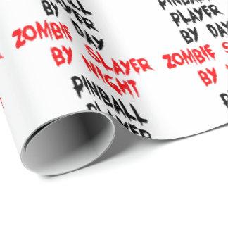 Papel De Presente Jogador do Pinball do assassino do zombi